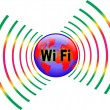 Stock Vector: HOT SPOT WI FI