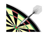 Darts and board — Stock Vector