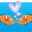 Love fish — Stock Vector