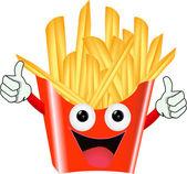 Pommes frites karaktär — Stockvektor