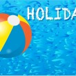 HOLIDAY POOL AND BEACH BALL — Stock Vector #22780846