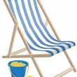 DECK CHAIR AND BUCKET AND SPADE — Stock Vector #22781194