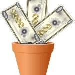 MONEY GROWTH — Stock Vector