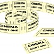 Cinema tickets — Vettoriali Stock