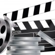 Stock Vector: Film strip and video