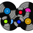 Records — Stock Vector