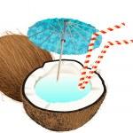 Coconut drink — Stock Vector