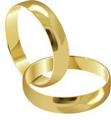 Anneaux de mariage — Vecteur