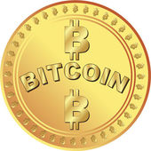 Bitcoin money — Stock Vector