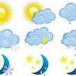 WEATHER SYMBOLS — Stock Vector #24317777