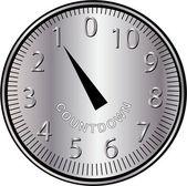 Countdown clock — Stock Vector