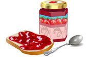 BREAD AND JAM — Stock Vector