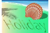 Holiday shore — Stock Vector