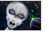 SPACE ALIEN — Stock Vector