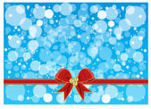 CHRISTMAS BOW WITH RIBBON — Stock Vector