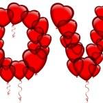 HEART SHAPED BALLOONS — Stock Vector #28108857