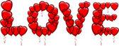 HEART SHAPED BALLOONS — Stock Vector