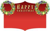 CHRISTMAS SIGN — Stock Vector
