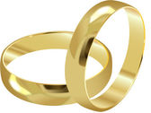 WEDDING RINGS — Stockvector