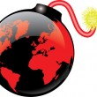 Stock Vector: WORLD BOMB