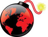 WORLD BOMB — Stock Vector