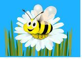 Honey bee — Stock Vector