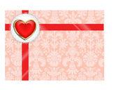 Valentine mit Herz — Stockvektor