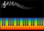 Rock music illustartion — Stock Vector
