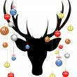 CHRISMAS DEER — Stock Vector