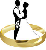 Anillo de boda — Vector de stock