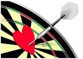 Love darts — Stock Vector