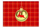 CHRISTMAS BAUBLE ON TARTAN — Vecteur