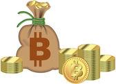 Bitcoin — ストックベクタ