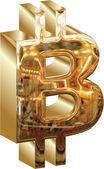 BITCOIN GOLD — Stock Vector