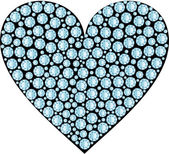 HEART DIAMOND — Stock Vector