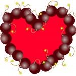 HEART BOMB — Stock Vector #39017757