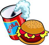 Burger et cola — Vecteur
