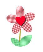 Heart flower — Stock Vector