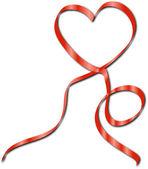 HEART RIBBON — Stock Vector