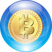 BITCOIN WORLD — Stock Vector