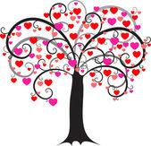 HEART TREE — Stock Vector