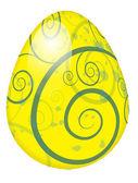 復活祭の卵の渦巻 — ストックベクタ