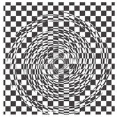 Black and white hypnotic background — Stock Vector