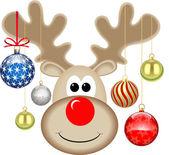 CHRISTMAS RUDOLPH — Stock Vector