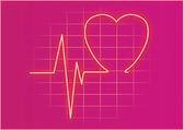 RED HEART  ORNATE SWIRL — Stock Vector
