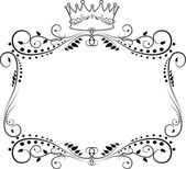 ORNATE FRAME BACKGROUND — Stockfoto