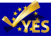 Voto sì — Foto Stock