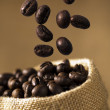 Royalty-Free Stock Photo: Coffee Bean Caffeine in sacks