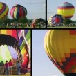 Stock Video: Hot Air Balloon Composite