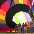Stock Video: Hot Air Balloon Glowing